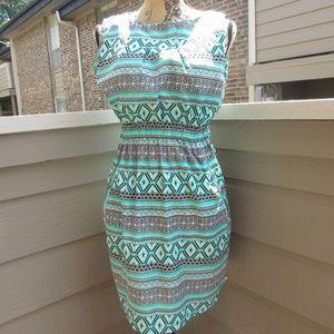 1331 Love Ari tribal green & grey dress boho M
